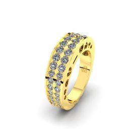 Alliance asring met diamanten, edelstenen en lab diamant.